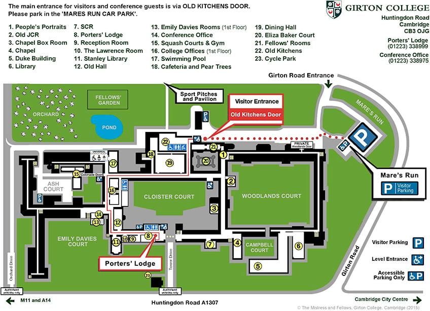 Girton College Map